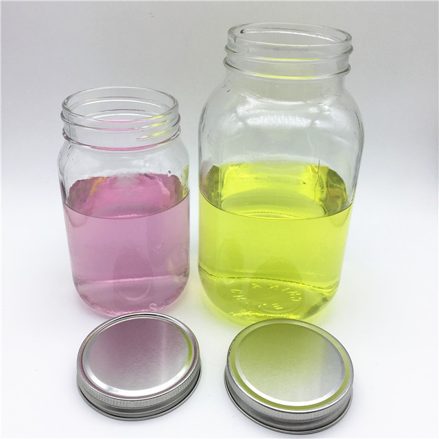 500ml 16oz 1L 32oz glass mason jars for food and storage with screw tinplate lids for promotion