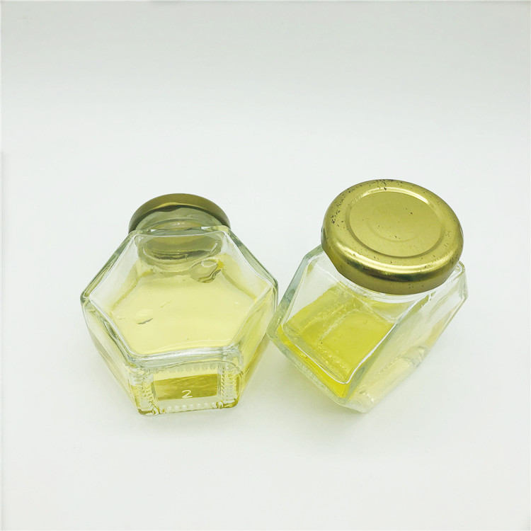 60ml 2oz six edge twist off cap glass honey jar for jam/sauce/spice
