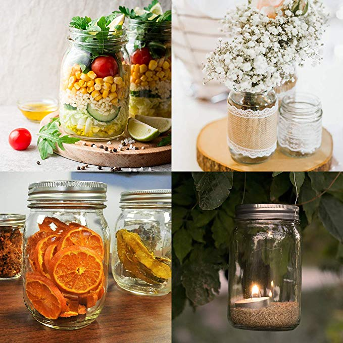 12 oz Canning Jars For Pickles Kitchen Storage